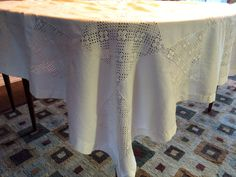 SALE  Shabby Chic Tablecloth with Napkins  by Milehighvintage303