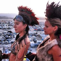 Jaime Murray at the Burning Man Festival. GOOD LORD WOMAN MY HEART CAN'T HANDLE YOUR SEXY.