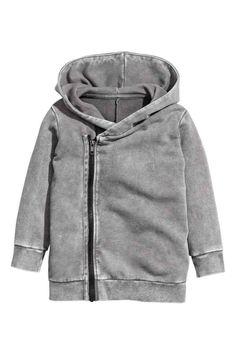 Teplákový sveter skapucňou | H&M
