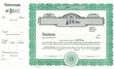 Custom Common Stock Certificate - Goes #722 https://www.corporatepublishingcompany.com/product/goes-722-certificates