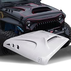"TOPFIRE ""Fury Hood"" Replacement Hood for Jeep Wrangler 20..."