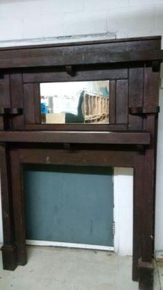 Details about Antique, Pine Fireplace Mantel | Fireplace mantel ...