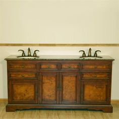 Photos Of Silkroad Exclusive HYP Bailey Double Sink Cabinet Bathroom Vanity