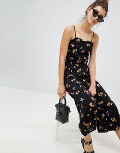 d05c6106fefe New Look Printed Lattice Side Jumpsuit