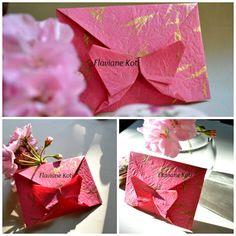 Envelope de origami borboleta Envelope Origami, Box Origami, Origami And Kirigami, Letter Folding, Paper Folding, Envelope Tutorial, Envelopes, Envelope Lettering, Traditional Japanese Art