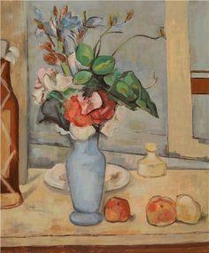 Paul Cezanne Paintings, Pictures At An Exhibition, Paul Cézanne, Painting Still Life, Bouquets, Auction, Museum, Vase, Oil