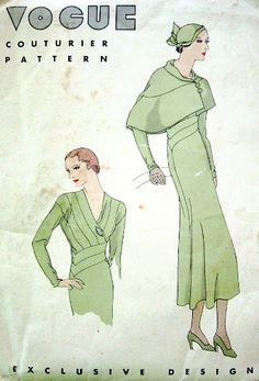 Vogue Couturier Pattern - better than what you see on Project Runway!