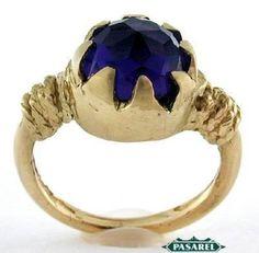 Pasarel - 14k Yellow Gold & Amethyst Ring $515