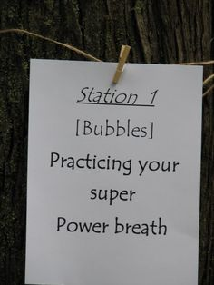 Day 10: Set up a bubble station for your superhero to show their super breath.