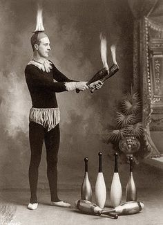 juggler if you cant do the tricks on our circus side show we set your head on fire russian state circus disclaimer in employment contract Old Circus, Circus Acts, Night Circus, Circus Clown, Circus Train, Vintage Photographs, Vintage Images, Cirque Vintage, Vintage Carnival
