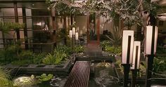 Oh WOW!  Would love to have an indoor garden with a waterfall in my house. It would be the perfect place to read and relax. Maybe put in a small salt water jacuzzi?=]