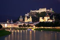 Old Town Salzburg across the Salzach river - Austria. Salzburg: Mozart's Birthplace and House . River Cruises In Europe, Cities In Europe, Beautiful Castles, Most Beautiful Cities, Amazing Places, Palaces, Zell Am See, Les Continents, Salzburg Austria