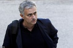 Manchester United manager Jose Mourinho arrived in Lisbon ahead of a football coaching lecture on Tuesday