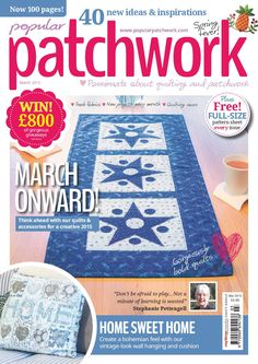 POPULAR PATCHWORK - MARCH - 2015 happy quilt along series part 3 no patterns