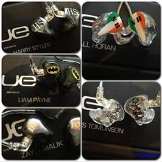 The boys personalised ear pieces for concerts.!