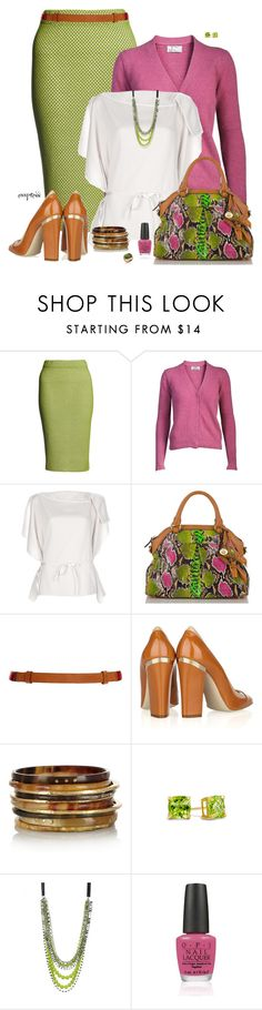 """""""Spring Green and Pink"""" by exxpress ❤ liked on Polyvore featuring Lucas Nascimento, Acne Studios, Chloé, Brahmin, M Missoni, STELLA McCARTNEY, Ashley Pittman, Zales, Adia Kibur and OPI"""