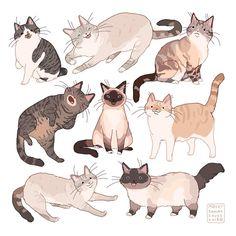 Art by hamotzi Cute Animal Drawings, Animal Sketches, Art Sketches, Pet Drawings, Art And Illustration, Pretty Art, Cute Art, Bel Art, Art Du Croquis