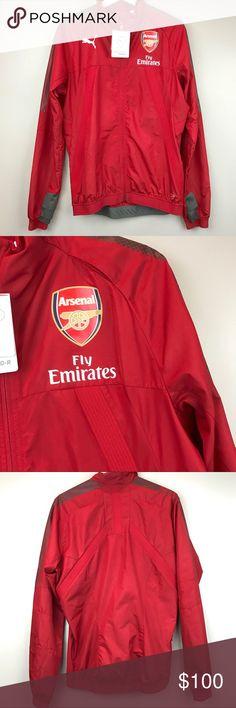 Arsenal AFC Puma Red stadium vented jacket soccer Puma AFC Stadium jacket  vent thermo -R 2db2b91f522
