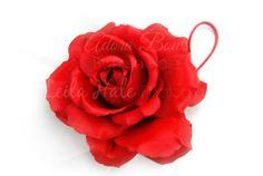 OTT big large huge red rose flower by AdoraBowsByLeilaHale on Etsy, $8.50