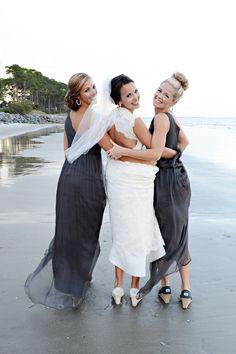 Bride & Bridesmaids! Outdoor coastal wedding - Donna Von Bruening Photography