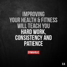 Improving your health and fitness will teach you Sport Motivation, Fitness Motivation Quotes, Health Motivation, Weight Loss Motivation, Lifting Motivation, Workout Motivation, Positive Quotes, Motivational Quotes, Inspirational Quotes