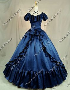 Victorian-Southern-Belle-Period-Dress-Ball-Gown-Reenactment-Theatre-Wear-206-M