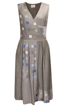 Grey embroidered wrap dress by Reboot Shop now:http://www.perniaspopupshop.com/designers/reboot #shopnow #reboot #perniaspopupshop