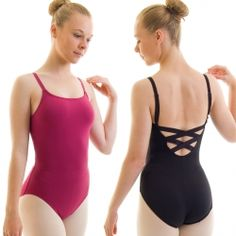 Women's Capezio ballet leotard with adjustable shoulder straps, elasticated rear straps and bra lining. Basic dance leotard that can be used for a wide variety of dance styles.