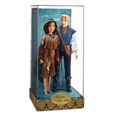 Disney Store 2014 ~ Limited Edition Designer Fairytale Pocahontas & John Smith doll set