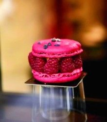 A raspberry macaroon at Carl Marletti, Paris  (Christian Kerber). I don't know...but I am obsessed with these Macaroons!!  #MissKL and #SpringtimeinParis