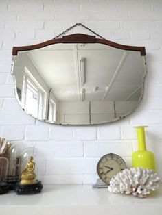 Vintage Extra Large Art Deco Bevelled Edge Wall by uulipolli