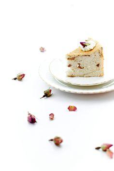 rOse angel food cake