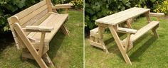 folding picnic table in table and bench mode