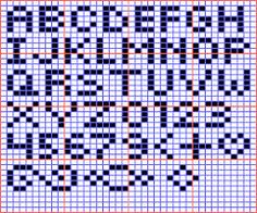 Graphing letters for crochet alphabet graphgan