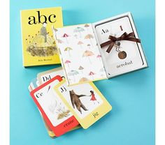 I've always wanted to get a set of alphabet cards to put up in the kids' room. I like these simple, vintage illustrations.