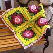 Borgata Flower Afghan Block - via @Craftsy