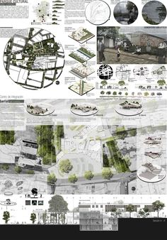 First Board : Courtesy of Ana María Campo Tobón,Javier Andrés Calvo Parra & Alejandro Jaramillo Ramírez - Plan Concept Architecture, Collage Architecture, Site Analysis Architecture, Landscape Architecture Design, Architecture Graphics, Architecture Board, Urban Architecture, Rendering Architecture, Architecture Diagrams