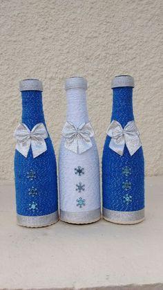 Bottle Cap Art, Diy Bottle, Wine Bottle Crafts, Cork Crafts, Diy And Crafts, Arts And Crafts, Bottles And Jars, Mason Jars, Recycled Glass Bottles