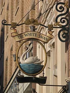 vauxhall bridge road... the pub sign of the white swan ...