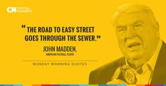 No shortcut to success - John Madden style #MondayMotivation