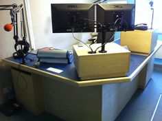 Forest FM Studio suite --- http://www.forestfm.co.uk/ --- Our high end broadcast desks are made to order and can be customized to suit your studio.  Website: http://sounddesks.co.uk/desks-52-c.asp  We can custom build to suit you, Your design ideas can be made reality, Just contact us!!
