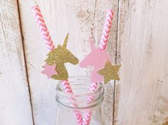 Lets have a UNICORN PARTY !!!  We have designed our own Unicorns to create these fun party decorations.  Youll receive 1 doz. Pink Chevron