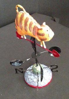Ranger Gift Cat Weather Vane Figurine NIB Retired NOS Country Kitchen Decor #RangerGift