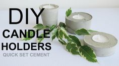 Diy, How to make cement candle holders, Room decor. Lotus Candle Holder, Geometric Candle Holder, Cheap Candle Holders, Concrete Candle Holders, Tealight Candle Holders, Glass Bottle Crafts, Candles, Room Decor, Cement Art