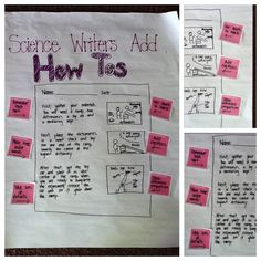 This exemplar chart provides clear expectations and suggestions for including procedural writing.