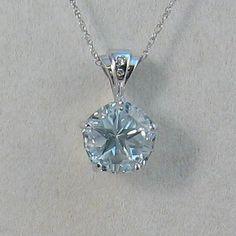 Pendant with blue Mason County Texas topaz, Lone Star Cut, 10mm, 5.11 ct stone