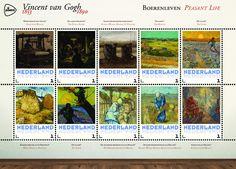Schilderijen van Vincent van Gogh - Boerenleven   http://collectclub.postnl.nl/speciale-map-van-gogh-nederland.html