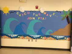 School wall board for PTA membership drive