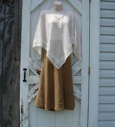 Cream Boucle Knit Mori Girl Boho Gypsy Fall Fashion by Artfullyou, $40.00