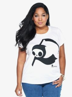 Tokidoki - White Adios Scoop Neck Tee